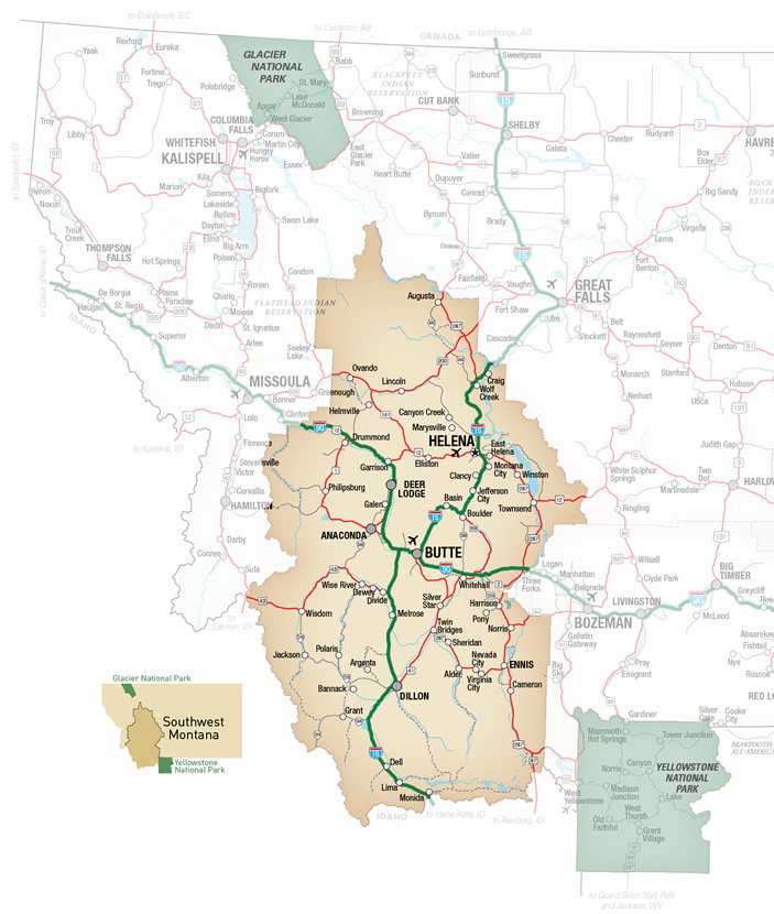 Madison River Montana Map.Welcome To Southwest Montana Trip Itineraries In Southwest Montana