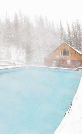 The Perfect Pairing: skiing and hot springs
